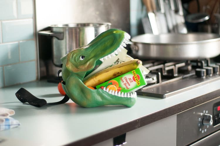 Geek Toys For Grown Ups : Creative lunch box shaped like a dino stores food between
