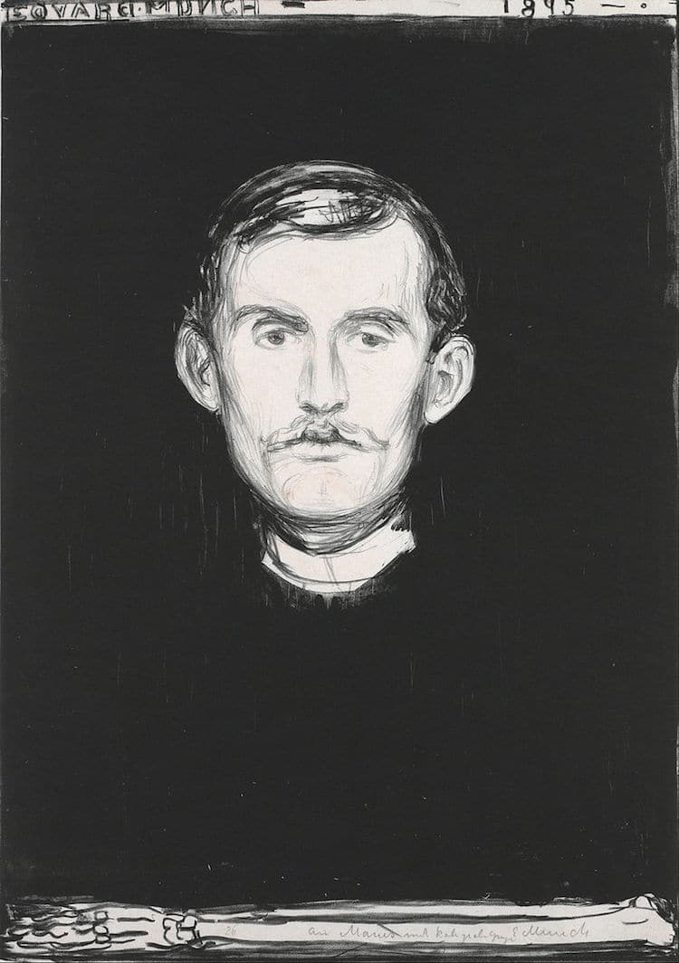 Self-Portrait by Edvard Munch
