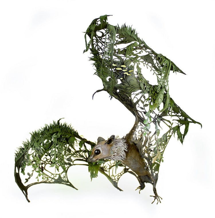 Surreal Animal Sculptures By MixedMedia Artist Ellen Jewett - Surreal animal plant sculptures ellen jewett