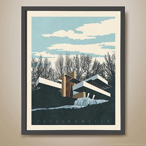 Fallingwater Architectural Print