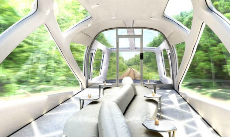 Japanese design luxury train