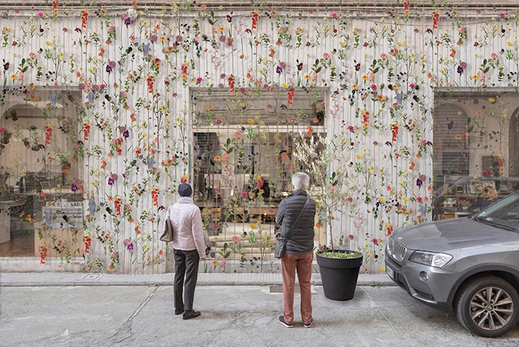 Flowerprint Hanging Flower Installation Piuarch Cornelius Gavril Milan Art