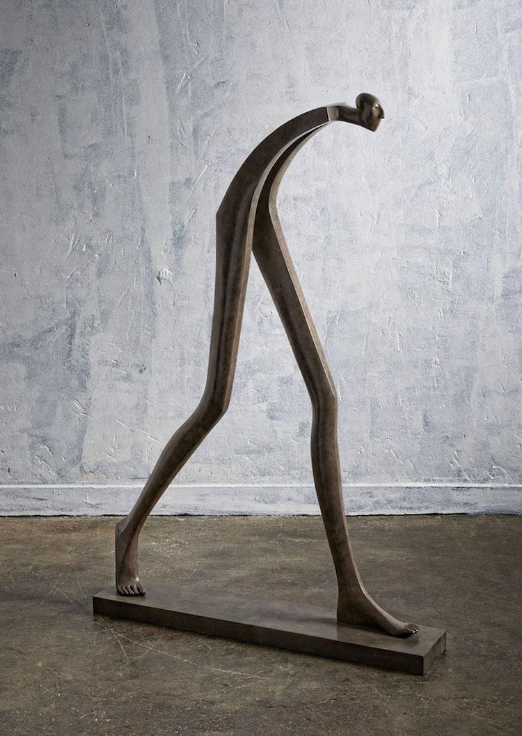 Fractured Bronze Figures Isabel Miramontes Surreal Sculptures
