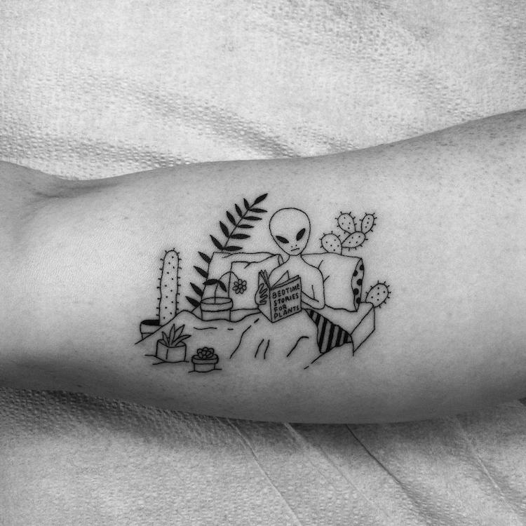 Simple Tattoos Funny Tattoos Line Drawings Sean from Texas