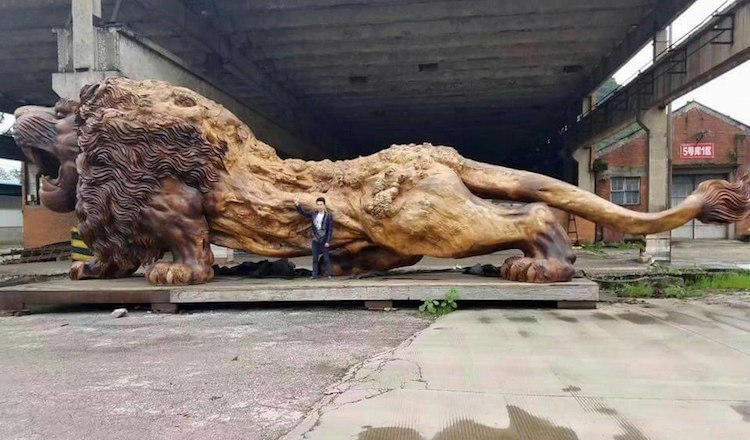 Giant Lion Sculpture - World's Largest Sculpture
