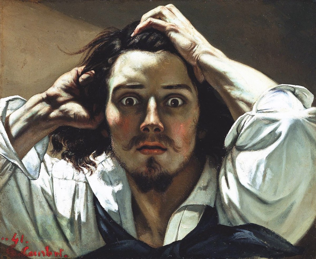 Self-Portrait by Gustave Courbet