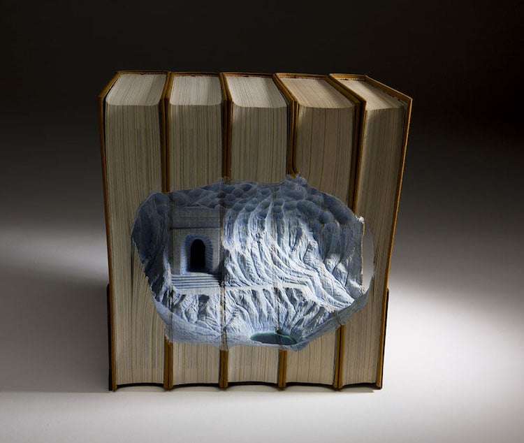 Guy Laramee Book Sculptures