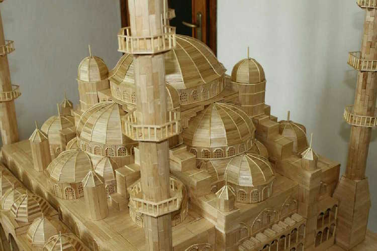 scale model with popsicle sticks