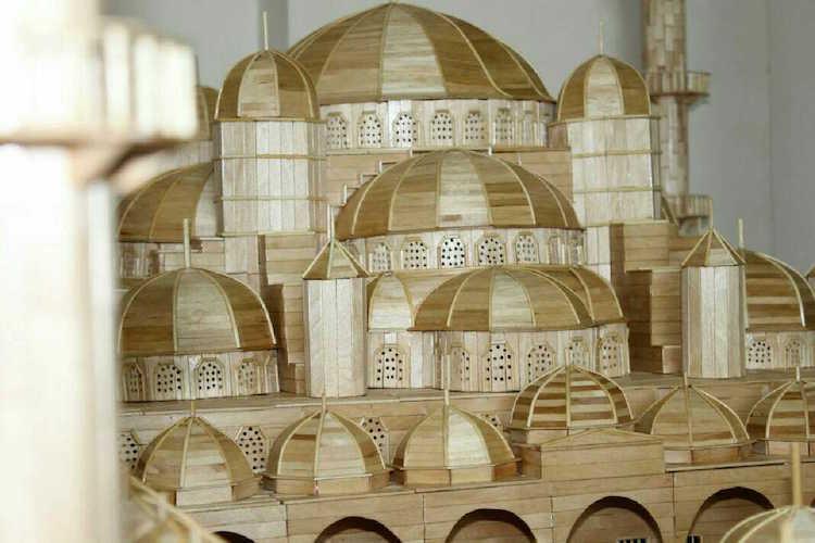 Husam Muhajer Popsicle Stick Art
