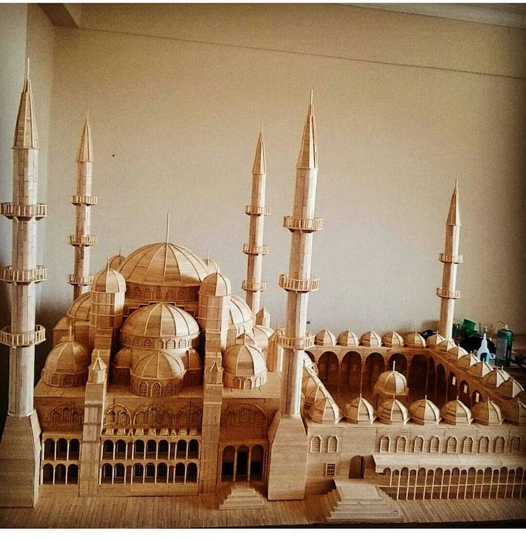 popsicle stick architectural models