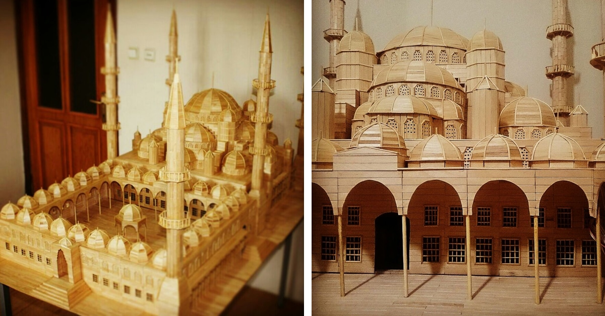 Architectural Scale Model Is Popsicle Stick Art Made From