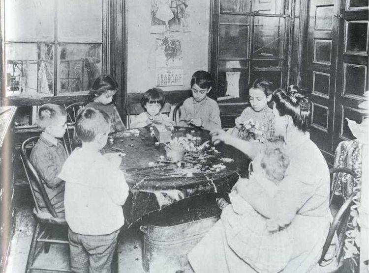 Foto de una familia de Jacob Riis