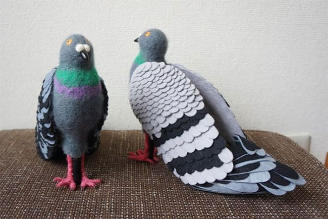 pigeon shoes felted shoes