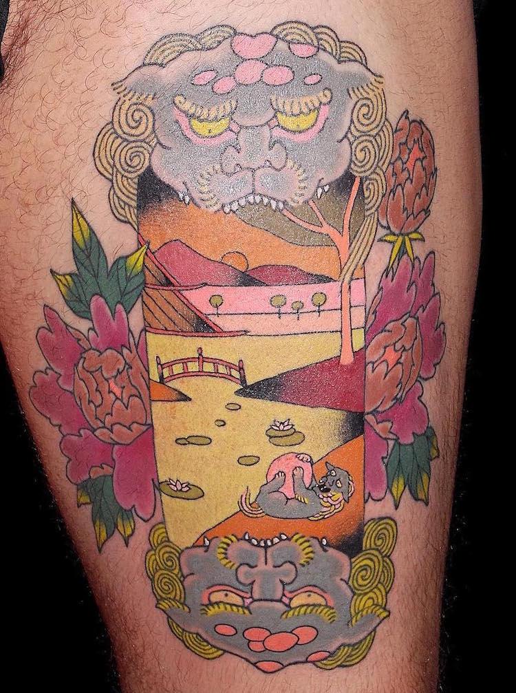 Amazing japanese woodblock inspired tattoos