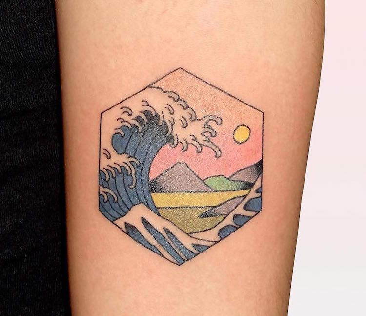 Amazing japanese woodblock inspired tattoos