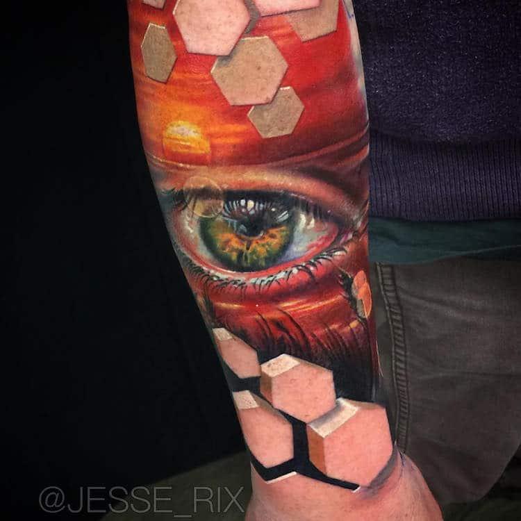 Optical Illusion Tattoos Jesse Rix