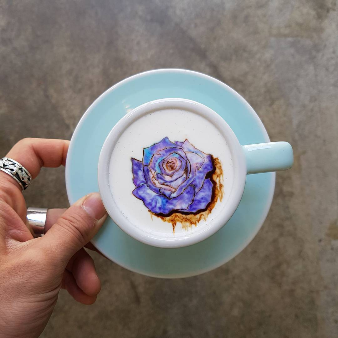 Colored Latte Art