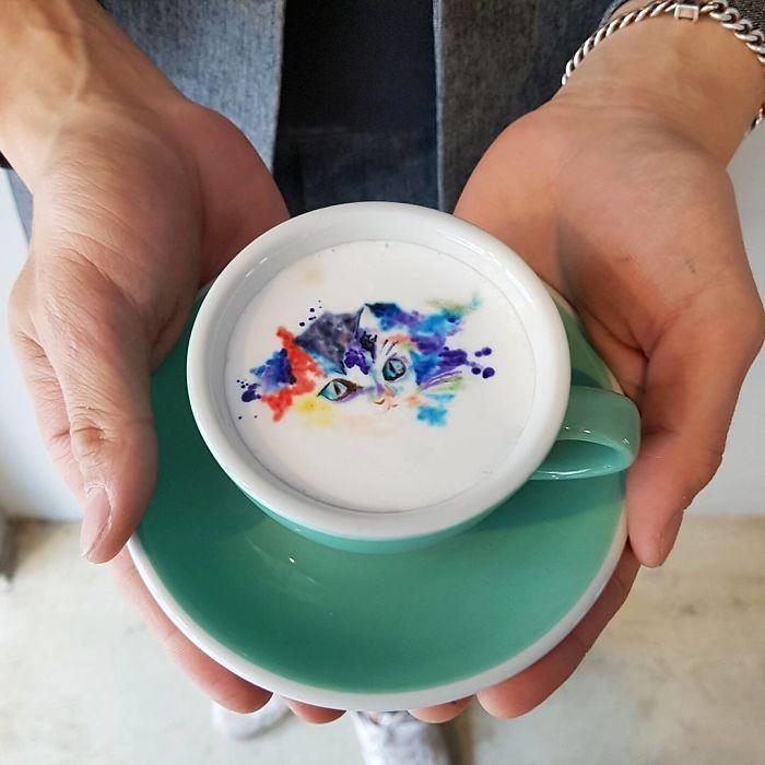 Colored Latte Art
