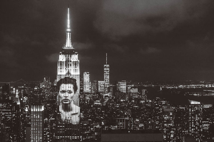 Projection on Empire State Building
