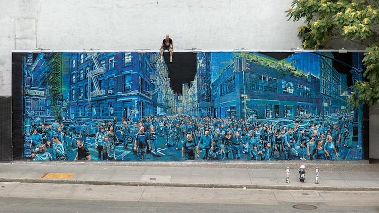 Logan Hicks Stencil Artist Bowery Wall detail