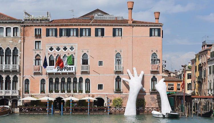lorenzo quinn support contemporary sculpture