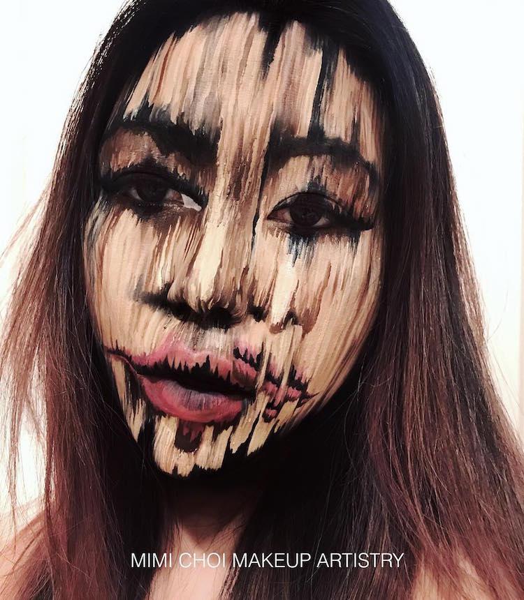 Mimi Choi optical illusion makeup