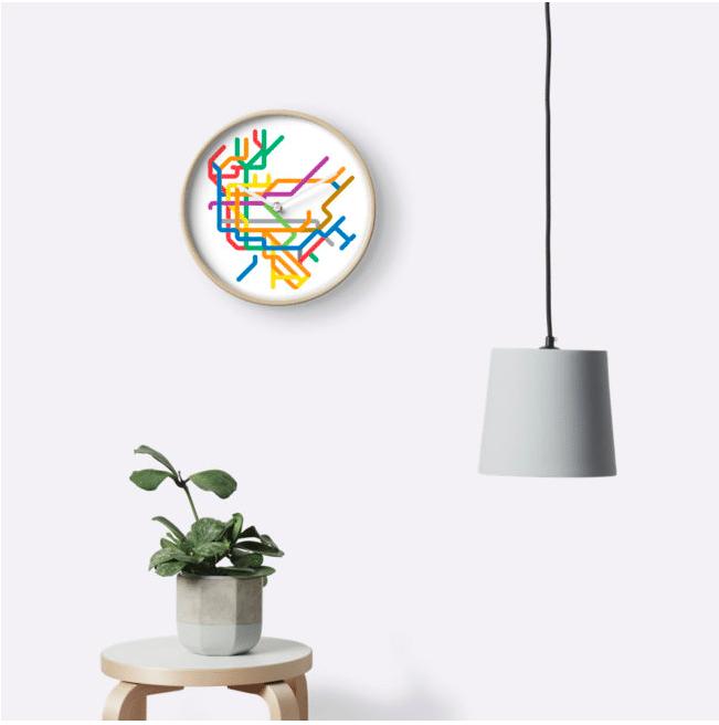 220 Mini Metro Maps Clock Peter Dovak