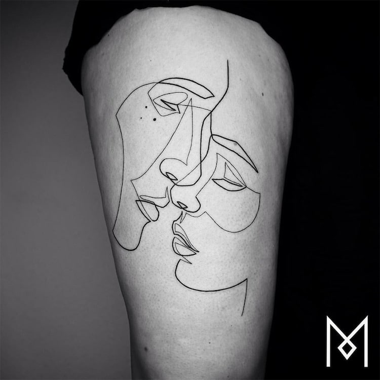 Minimalist Tattoo Series By Mo Ganji Shows Depth Of Line Tattoos