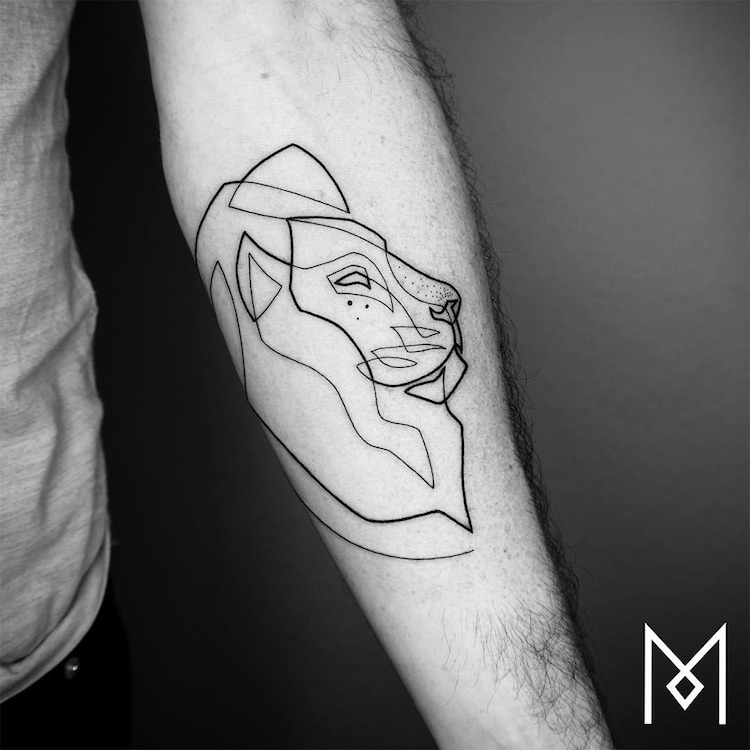 Minimalist Tattoo Series by Mo Ganji Shows Depth of Line ...