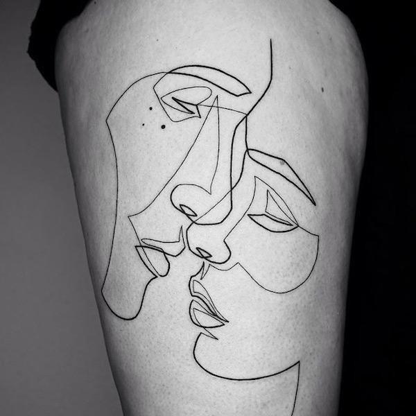 Minimalist Environmental Tattoo: The Big City That Celebrates Creative Ideas