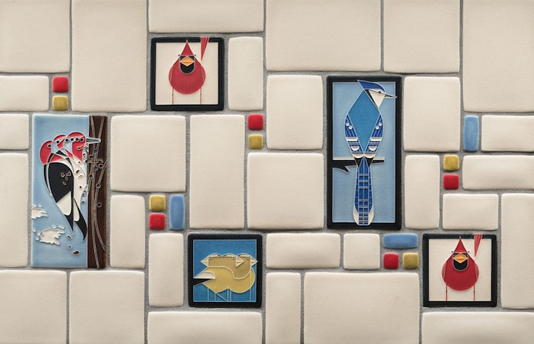Illustrated Ceramic Art Tiles Add A Modern Flair To The