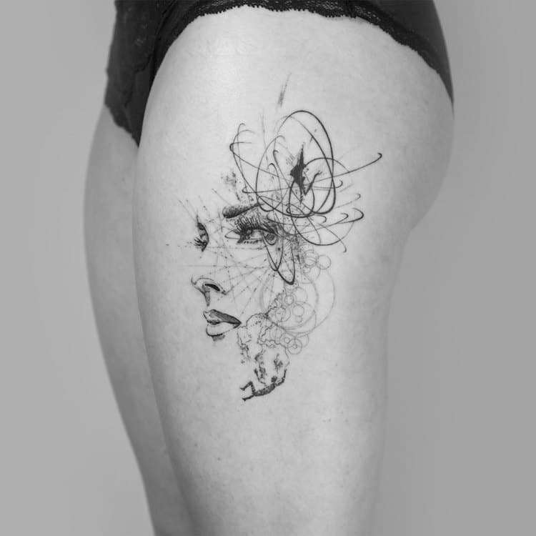 Line Drawing Tattoo London : Mowgli the london tattoo artist creating unforgettable