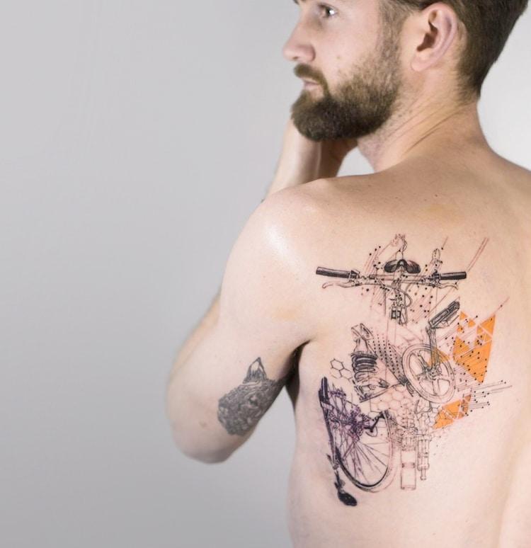mowgli linework tattoos