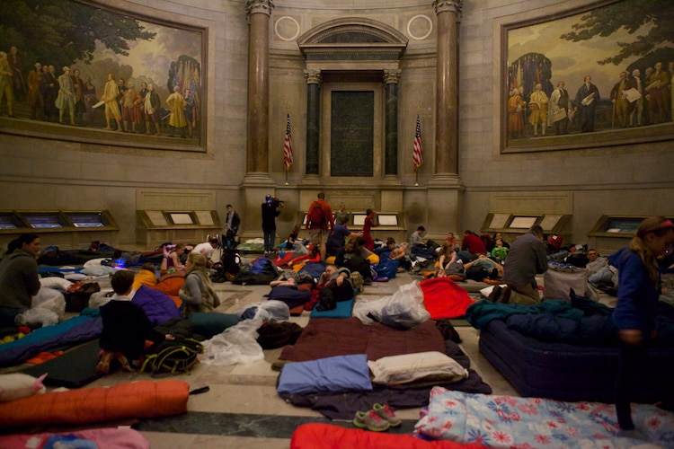 Museum Sleepovers National Archives Washington DC Sleep at a Museum