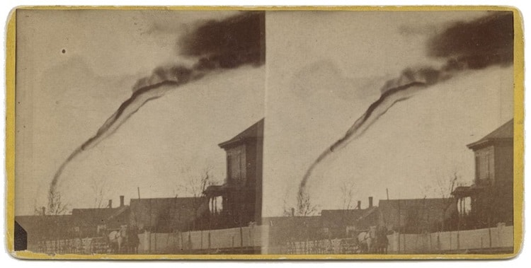oldest photos of a tornado