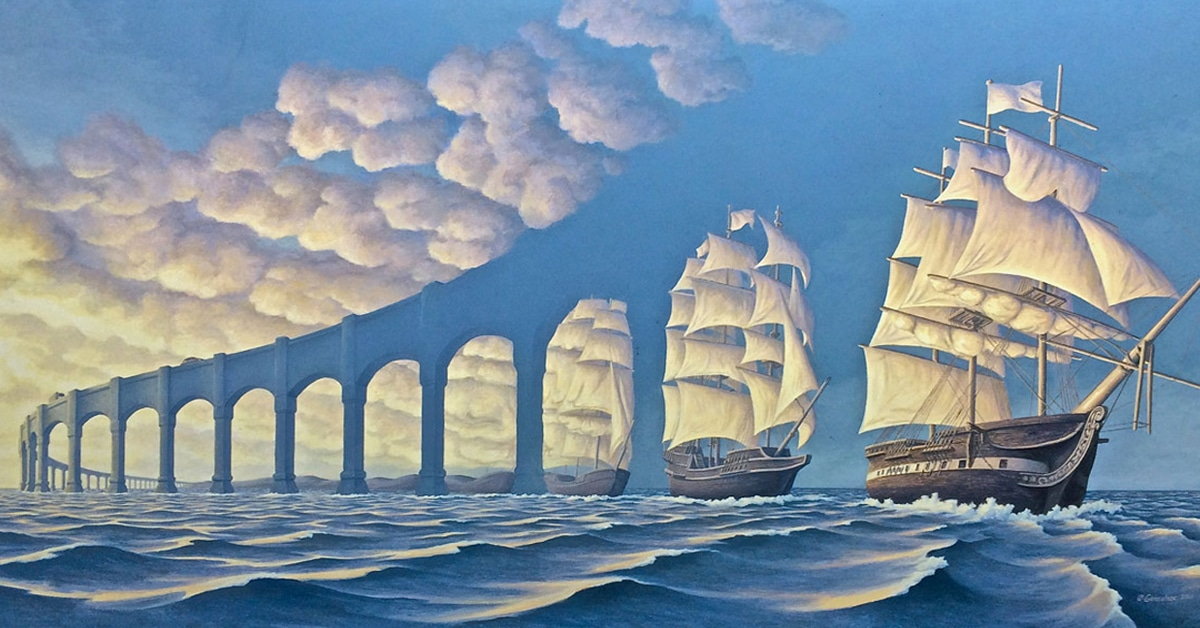 Surreal Optical Illusion Art Imagines The World With