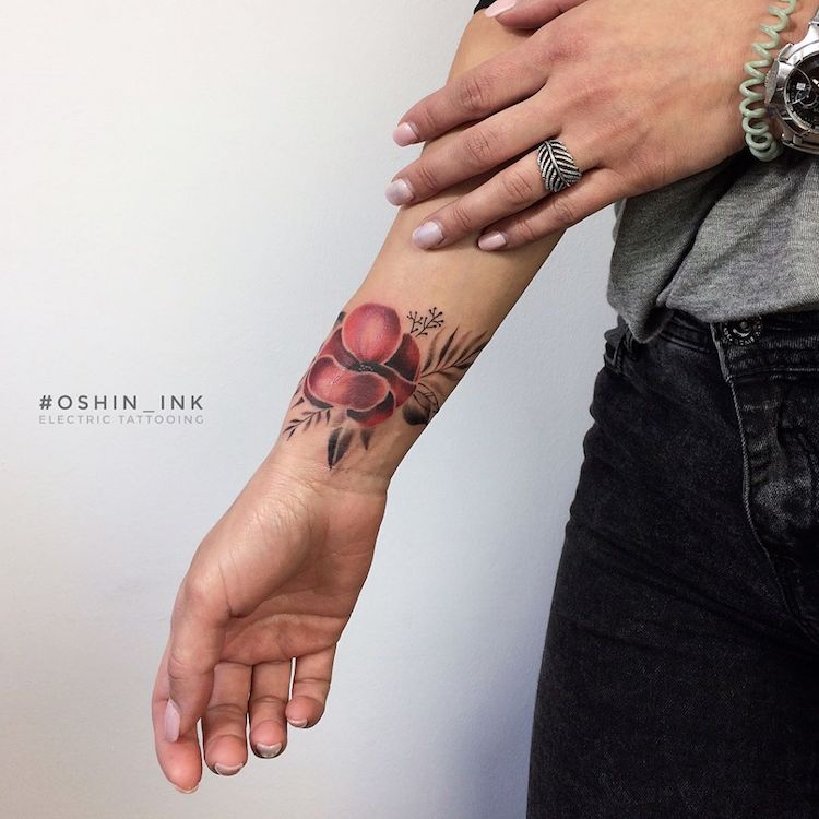 oshin timoshin floral tattoos