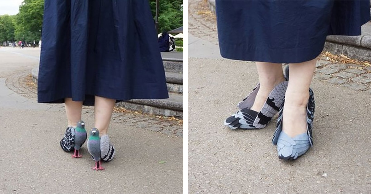 Japanese Woman Spotted Wearing Heels That Look Exactly Like Pigeons