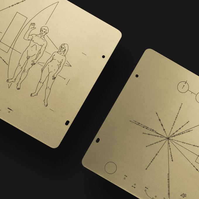 pioneer plaque replica