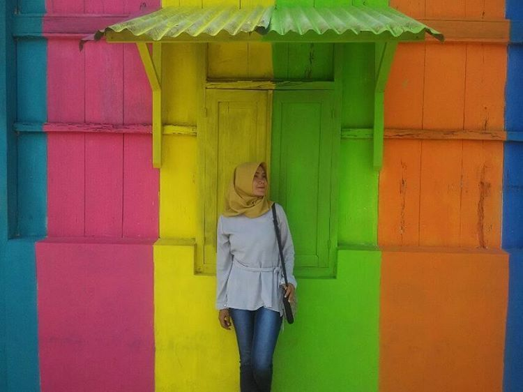 Rainbow Colored Village Indonesia