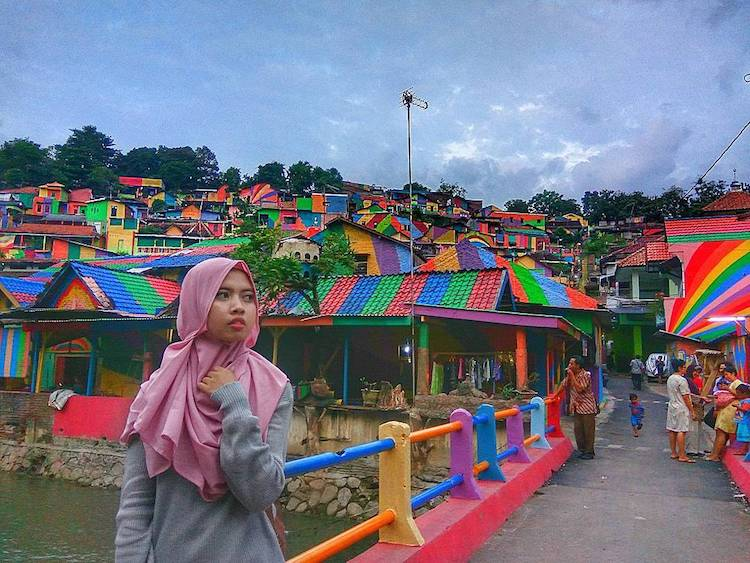 Kampung Pelangi Rainbow Village In Indonesia Covered In