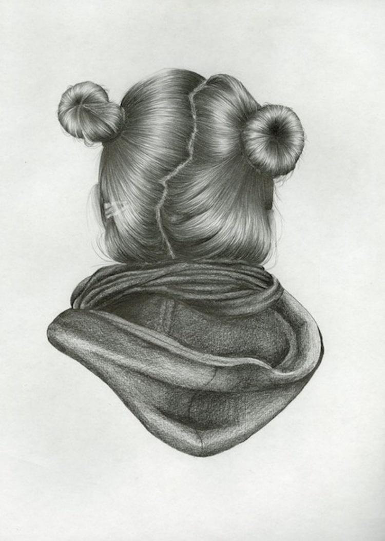 Nettie Wakefield Reversed Portraits Reversed Portrait Series Pencil Drawings