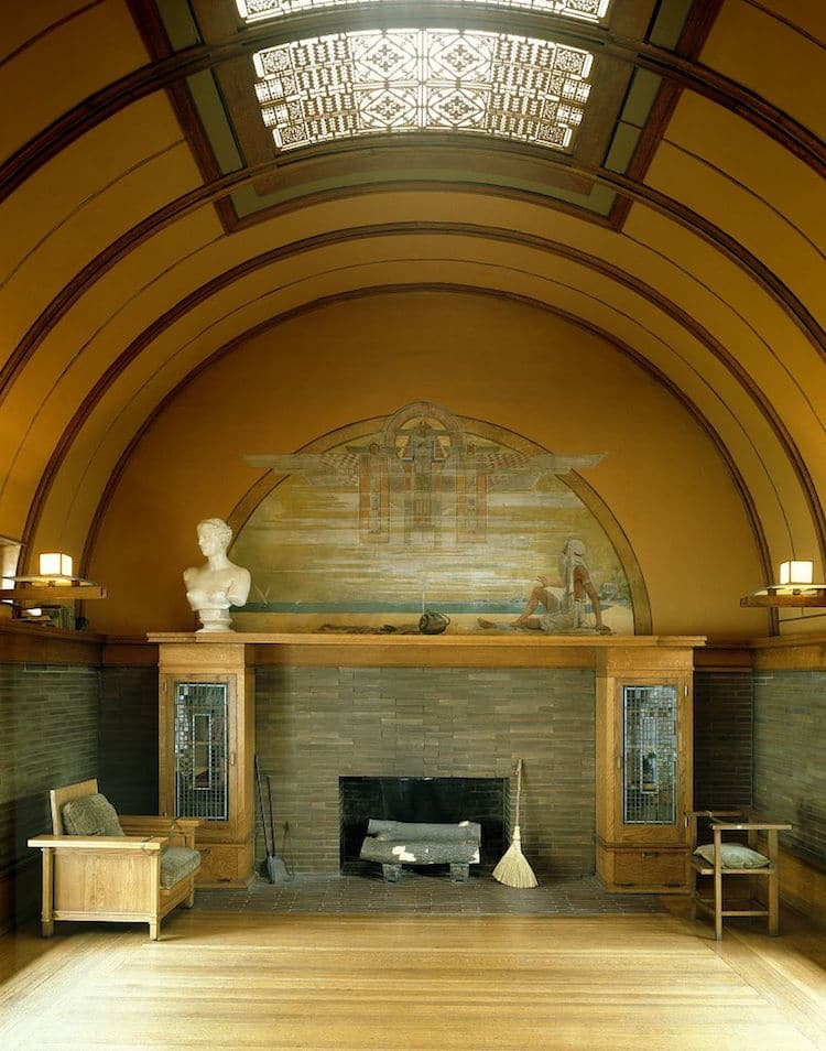 Frank lloyd wright architecture an architectural history Interior houses