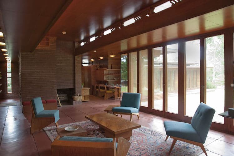 Rosenbaum House Frank Lloyd Wright Usonian House. Interior ...