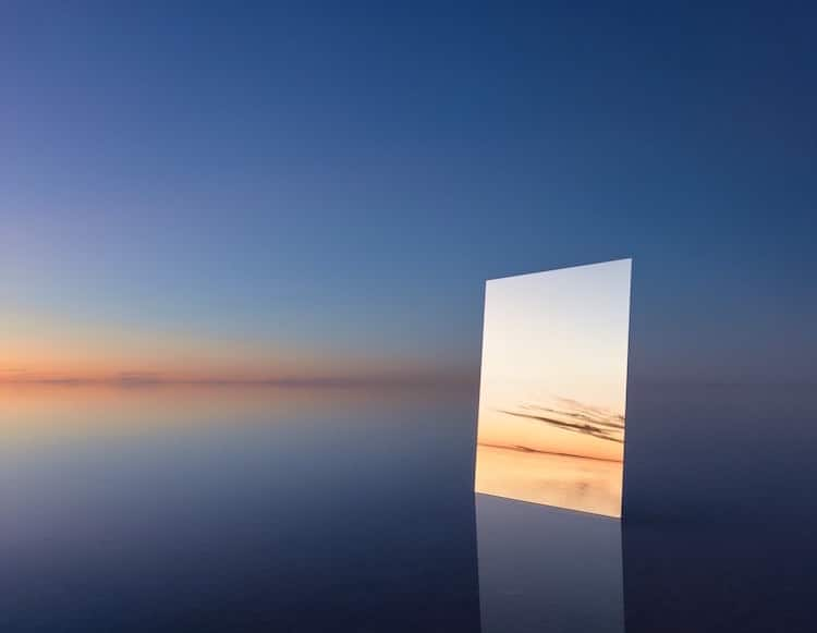 Salt Vanity Series Landscape Mirrors Murray Fredericks Photography Art