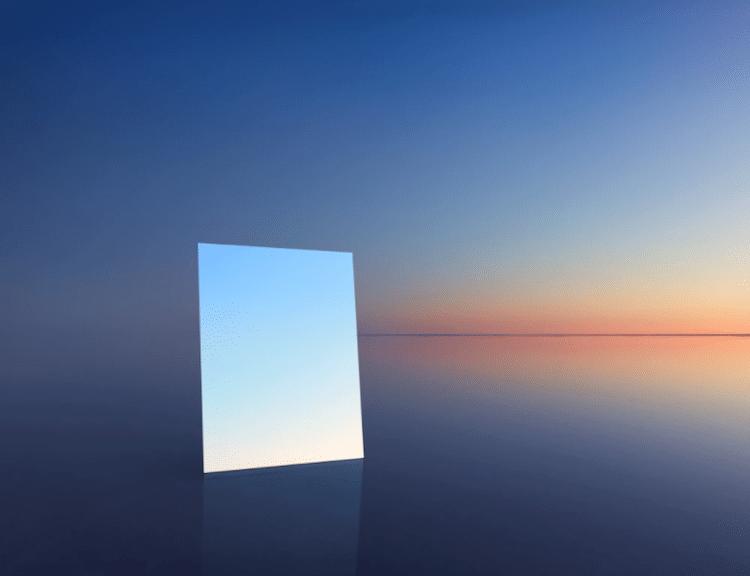 Mirror Photo Salt Vanity Series by Murray Fredericks