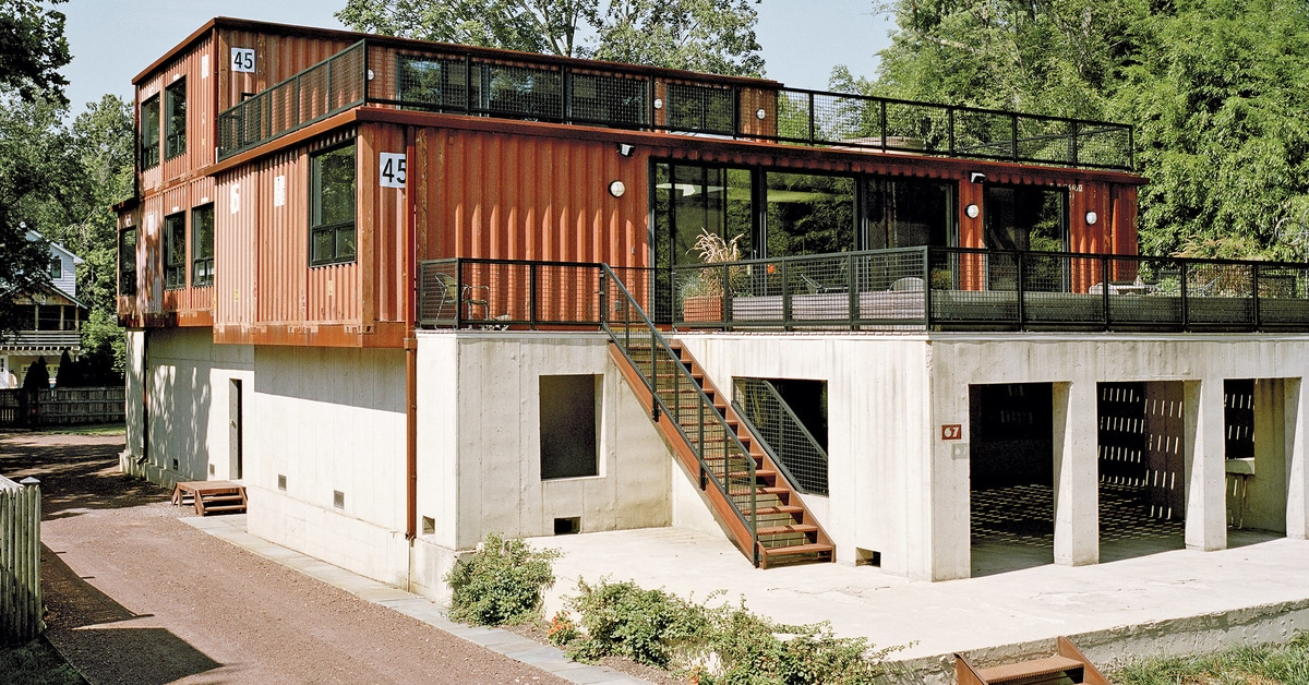 Modern Shipping Container Homes are Unique Eco-Friendly ... on container house plans, conex home plans, conex building plans, shipping container plans, storage container plans, sun container plans,