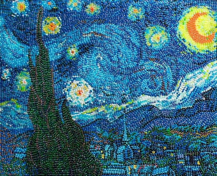 Van Gogh la noche estrellada comida