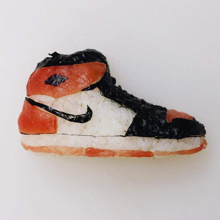 315f03918c Sushi Shoes and Sushi Sneakers by Chef and Onigiri Art Creator Yujia Hu