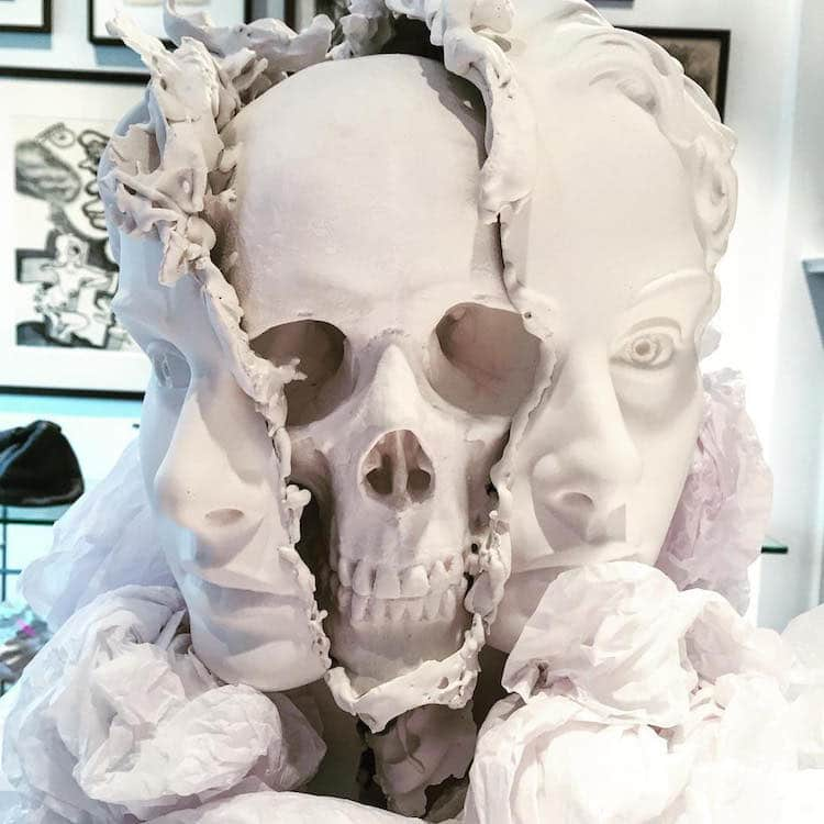 Skull Art Surreal Sculpture Taiji Taomote